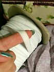 Elastic For Face Mask 3/8 Inch Flat Soft 1,5,9 Yards New Made In Usa - White
