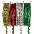 6mm RIC RAC Ribbon/Braid/Trimming LUREX 20 Metre Reel Gold Silver Red & Green