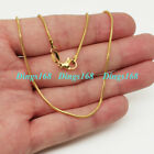 Men&women's 18k Gold Filled Tarnish-free Classic 1.6mm Wide Snake Chain Necklace