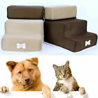 Portable Dog Stairs 3 Steps Cat Ladder Cover Step Ramp Climb for Pet Play Supply