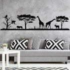 African Safari Wall Decal Jungle Vinyl Stickers Decals Home Decor Animal Wall