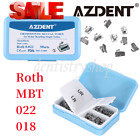 200Pcs AZDENT Dental Orthodontic Monoblock Buccal Tubes 1st Molar MBT/Roth 0.022