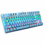 Gaming Mechanical Keyboard Wired RGB Backlit 87 Keys Full Anti-ghosting Keypad