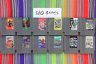 Original Nintendo NES Games Lot Classics Authentic / Cleaned / Tested $10 Each