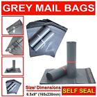 Grey Mailing Bags Strong Poly Postal Postage Post Mail Self Seal 6.5x9