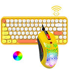 Bluetooth 2.4G Wireless Compact Lightweight Keyboard and Wired RGB Gaming Mouse