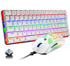 US Wired Gaming Mechanical Keyboard LED Backlit and Lightweight RGB Mouse Combo