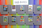Original Nintendo NES Games Lot Classics Authentic / Cleaned / Tested $7-10 Each
