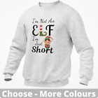 I'm Not An Elf I'm Just Short Christmas Sweatshirt Jumper Funny Novelty Gift