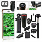 All In 1 Phone Camera Lens 8X/12X Telescope Monocular Selfie Stick Tripod PT