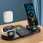 6 in1 Qi Wireless Charger Dock Pad For Apple Watch 5/4/3/2/1 AirPod iPhone 11 XS