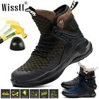 Wisstt Men's Work Safety Shoes Indestructible Steel Toe Cap Military Ankle Boots