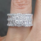 Steal Deal! 1.55 ctw Natural Cluster Diamond Ladies Ring  In 14K White Gold