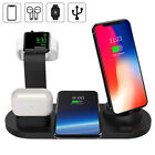 US 3in1 Qi Wireless Charger Dock For iWatch 6/SE/5/4/3/2 AirPod iPhone 12 12Pro
