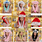 Animal Ears Wavy Hat Halloween Costume Christmas Cosplay Airbag inside to MOVE