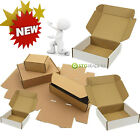 BROWN OR WHITE SHIPPING CARDBOARD BOXES POSTAL MAILING GIFT PACKET SMALL PARCEL