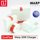 Original OnePlus 30W Warp Charger Dash Adapter 6A Type-C Cable 8 Pro 7t 7 8 6t