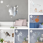 Mirror Tile Wall Sticker Self Adhesive Room Decor Stick On Art Home Decal Diy