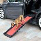 "62"" 40"" HEAVY DUTY Folding Dog Ramp Pet Ramps for SUV Cars Travel Portable Light"