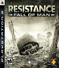 RESISTANCE FALL OF MAN PlayStation 3 PS3 Complete w/ Manual Tested CIB
