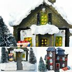 Christmas House Village Scene Light Up Decoration Battery Indoor Ornament LED