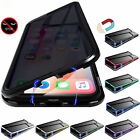 Anti-peep -Magneto Metal Edge Mobile Phone Double-sided Protective Case Cover