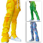 New Stylish Women's Drawstring Patchwork Street Style Stacked Pants Fall Winter