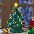 Vintage style decore indoor gift Retro Lighted Ceramic Tabletop Christmas Tree
