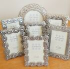 Sixtrees Vintage Shabby Chic Silver 3.5 x 2.5 inch Photo Picture Frame Beads