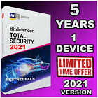 BITDEFENDER TOTAL SECURITY 2021 -  5 YEARS ACTIVATION - DOWNLOAD - OFFICIAL LINK