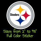 Pittsburgh Steelers Full Color Vinyl Decal | Hydroflask decal Cornhole decal 10