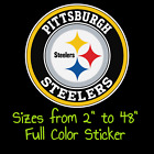 Pittsburgh Steelers Full Color Vinyl Decal | Hydroflask decal | Cornhole decal 1