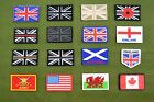 UK British Army Patches Flashes Insignia Embroidered Rubberised Flag Patch Badge
