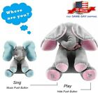 Peek a Boo Animated Talking Singing Flapping Ear Elephant Plush Stuffed Doll Toy