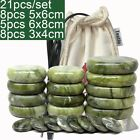 21Pc Green Jade Body Massage Hot Stone Heater Bag Relieve Pain Spa Relax Heating