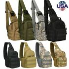 Men Backpack Molle Tactical Sling Chest Pack Shoulder Bag Hiking Travel Outdoor