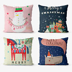 Merry Christmas 4 Pieces Two Sides Printed Cushion Pillow Case Cover