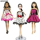 "Внешний вид - Polka Dots Lace Short Skirts Dress for 11.5"" Doll Clothes Bow Outfits 1/6 Toys"
