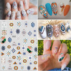 Flowers Embossed Retro Decals Nail Art Decorations Nail Stickers Nail Foils