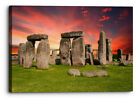 Stonehenge Landmark Abstract Sunset Canvas Wall Art Picture Home Decoration