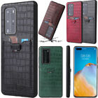 Crocodile Pu Leather Card Slot Cover Case For Iphone 12 11 Pro Max Xr 7 8 Plus
