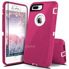 For iPhone 6 6s 7 8 Plus Protective Shockproof Cover Case With Screen Protector