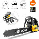 62CC 20'' 3.5 HP 2 Stroke Gas Powered Chainsaw and Handheld Gasoline Chain Saw