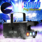 500W Portable Smoke Fog Machine RGB LED Stage Light With Remote Controller 3