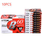 Standard Cassette 60 Minutes Blank Tapes Empty Audio Recording For Music Player