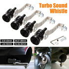 Black Exhaust Turbo Whistle Pipe Sound Muffler Blow Off Valve Bov