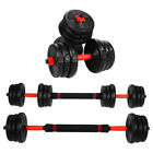 Upgrade Totall 33/44LB/66LB Dumbbell Set Adjustable Dumbbells Weights Cap Weight