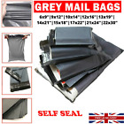 Strong Mailing Bags Large Medium Small Grey Plastic Postage Postal Bags UKSeller