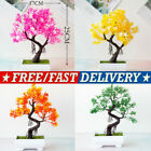 1pcs Bonsai Tree In Square Pot Artificial Plant Decoration For Office/home New