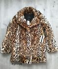 Abrigo de pelo leopardo animal print faux fur Forever 21 winter coat...